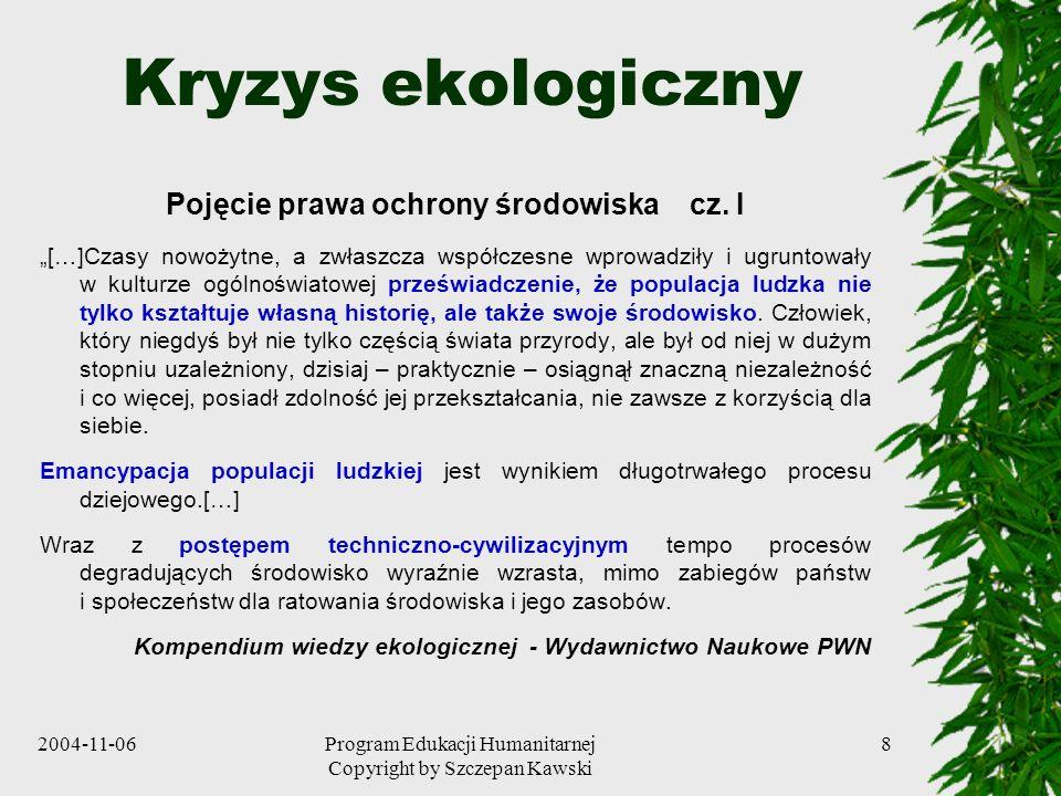 Pojęcie prawa ochrony środowiska cz. I