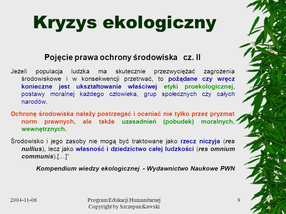 Pojęcie prawa ochrony środowiska cz. II