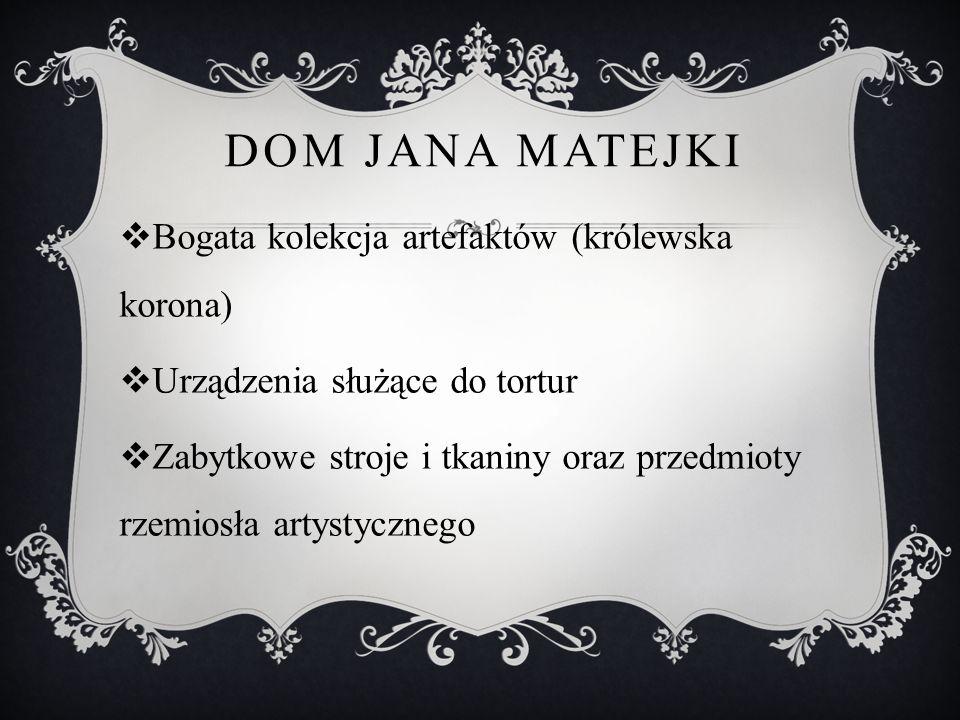 Dom Jana Matejki Bogata kolekcja artefaktów (królewska korona)