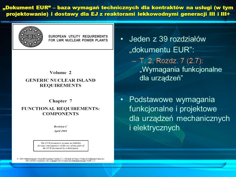 """Jeden z 39 rozdziałów """"dokumentu EUR :"""