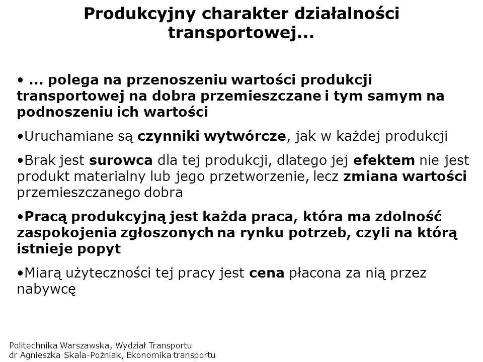 Produkcyjny charakter działalności transportowej...