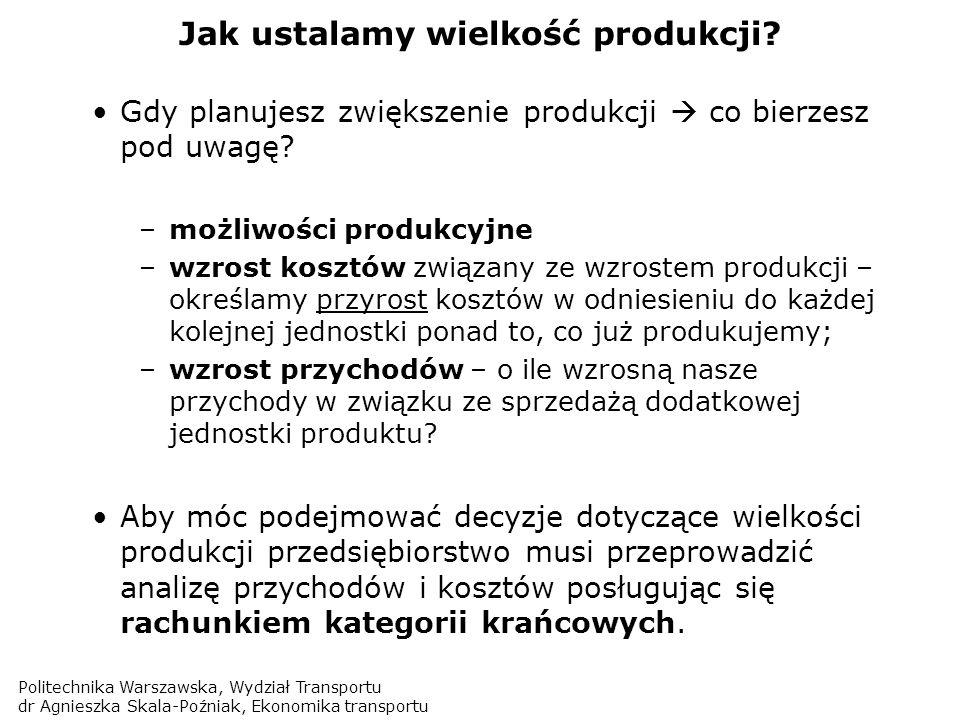 Jak ustalamy wielkość produkcji
