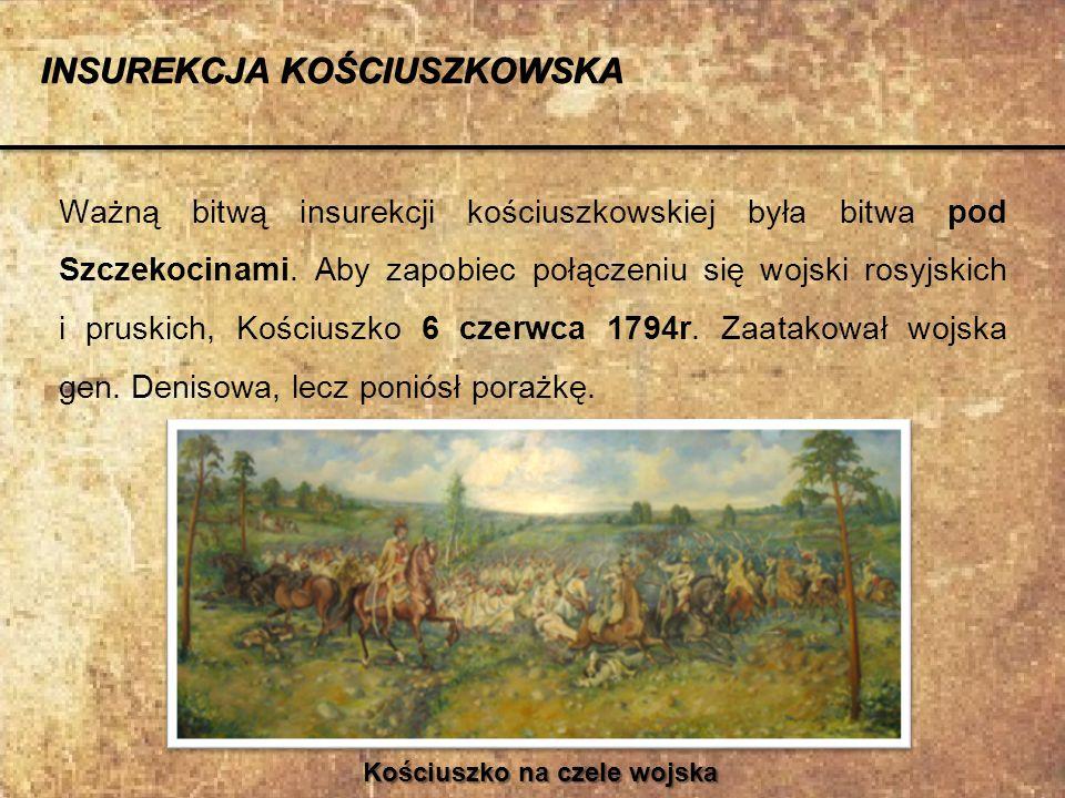 Kościuszko na czele wojska