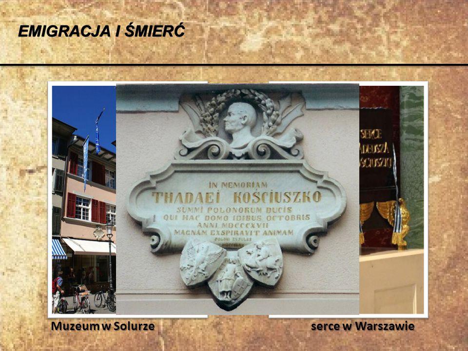 EMIGRACJA I ŚMIERĆ Muzeum w Solurze serce w Warszawie.