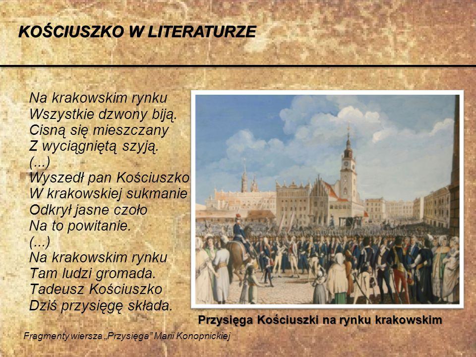 KOŚCIUSZKO W LITERATURZE