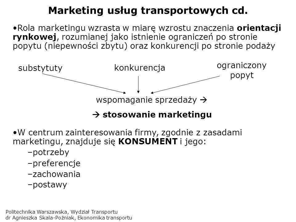 Marketing usług transportowych cd.