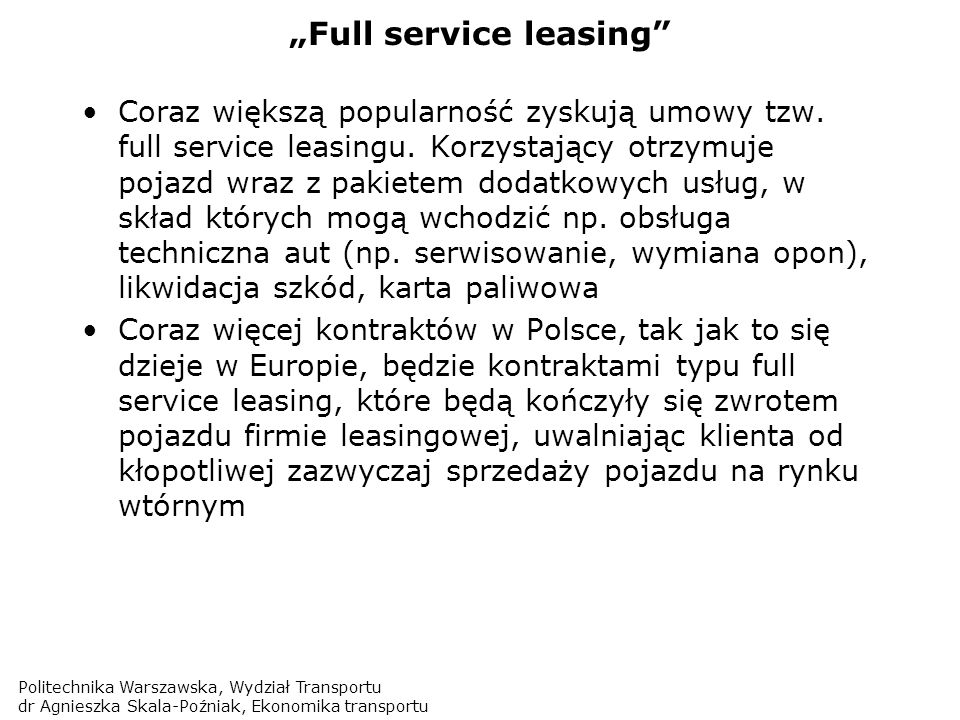 """Full service leasing"