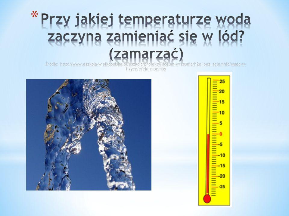 Przy jakiej temperaturze woda zaczyna zamieniać się w lód