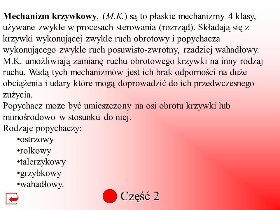 Mechanizm krzywkowy, (M. K