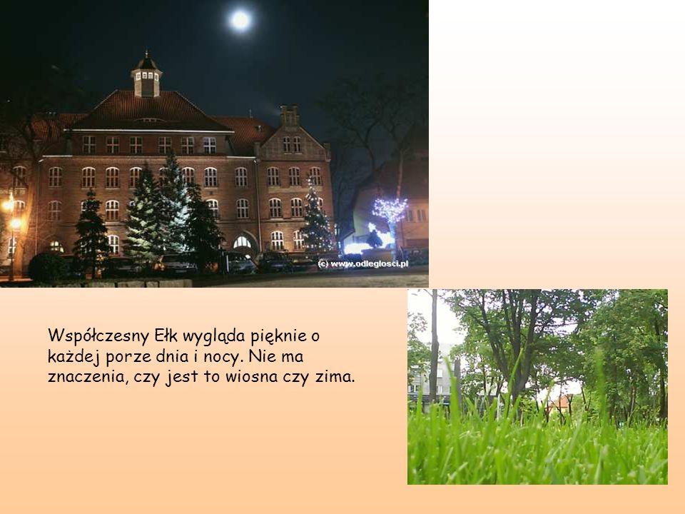 Współczesny Ełk wygląda pięknie o każdej porze dnia i nocy