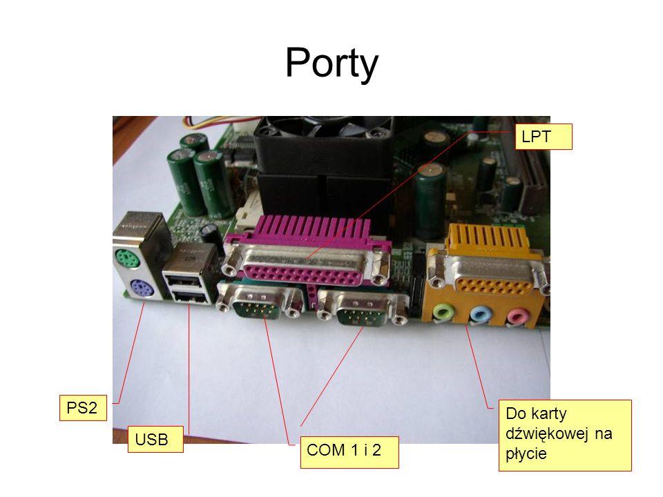 Porty LPT PS2 Do karty dźwiękowej na płycie USB COM 1 i 2