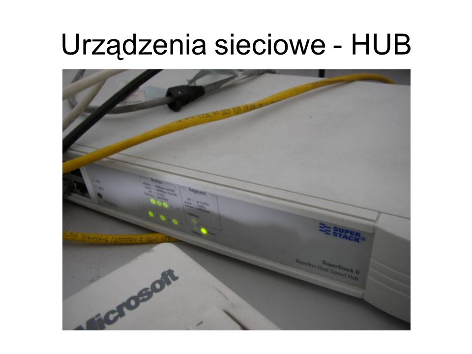 Urządzenia sieciowe - HUB