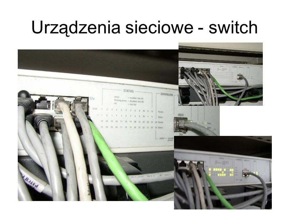 Urządzenia sieciowe - switch
