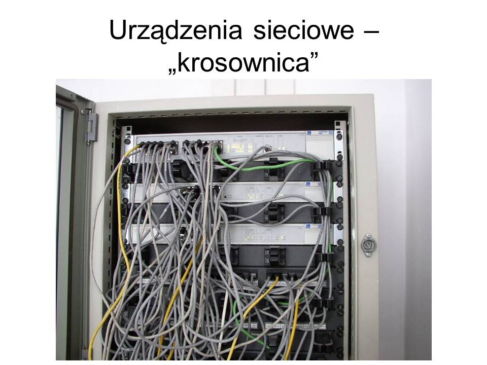 """Urządzenia sieciowe – """"krosownica"""