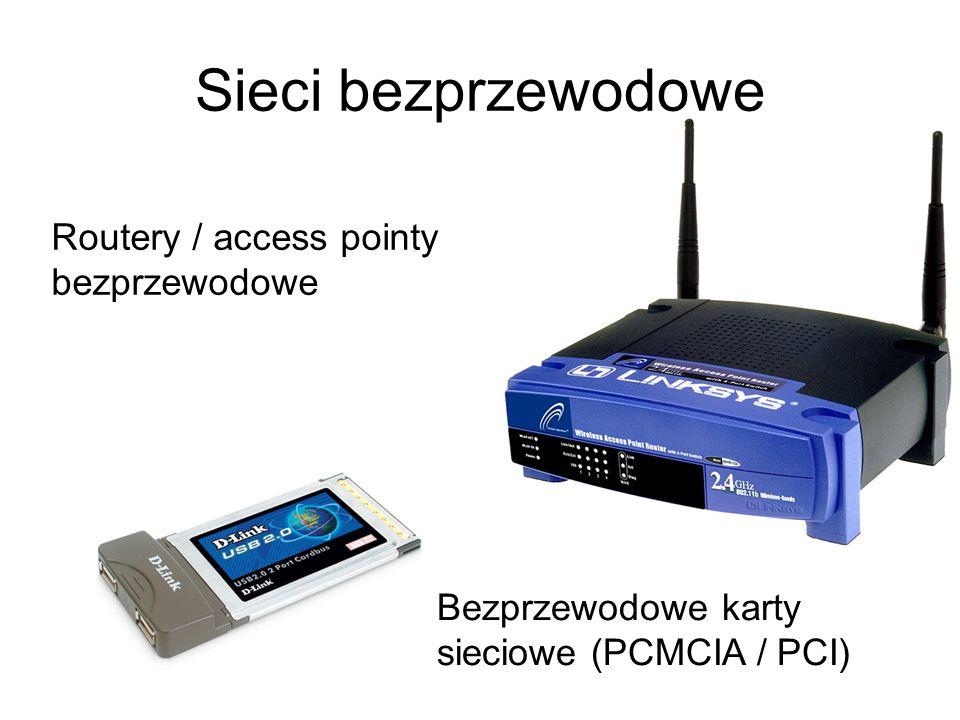Sieci bezprzewodowe Routery / access pointy bezprzewodowe