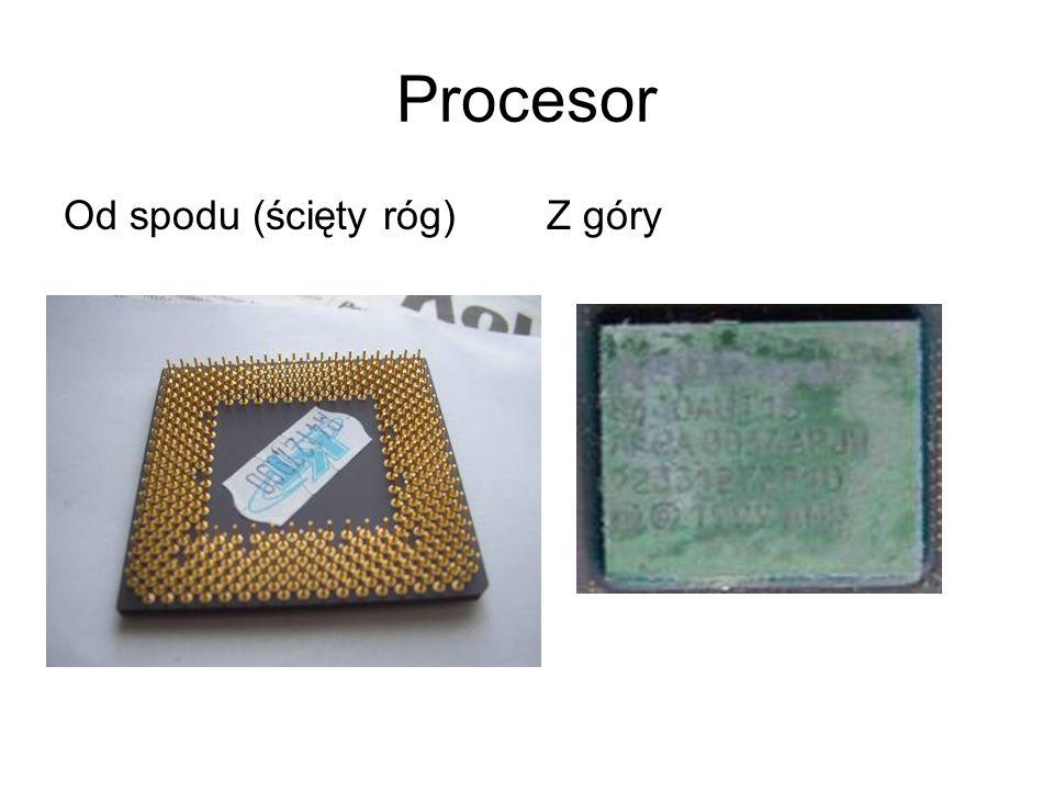 Procesor Od spodu (ścięty róg) Z góry