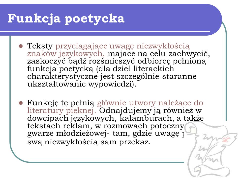 Funkcja poetycka