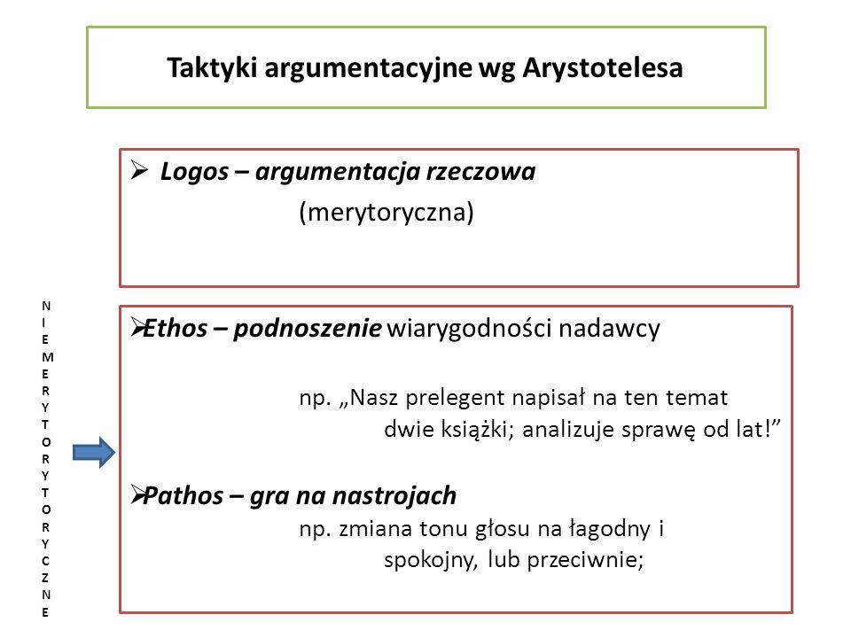 Taktyki argumentacyjne wg Arystotelesa