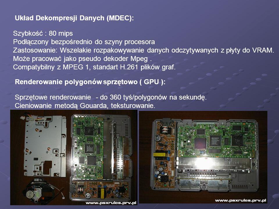 Układ Dekompresji Danych (MDEC):