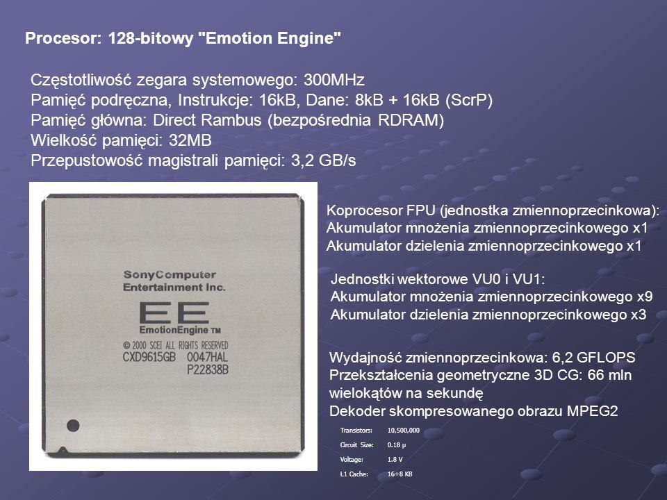 Procesor: 128-bitowy Emotion Engine