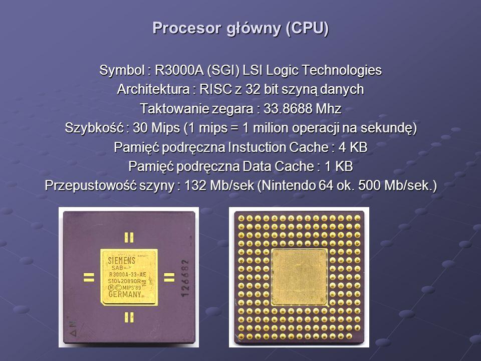 Procesor główny (CPU) Symbol : R3000A (SGI) LSI Logic Technologies