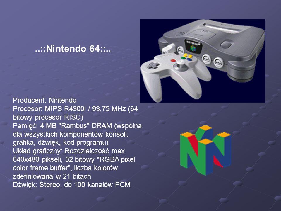 ..::Nintendo 64::.. Producent: Nintendo