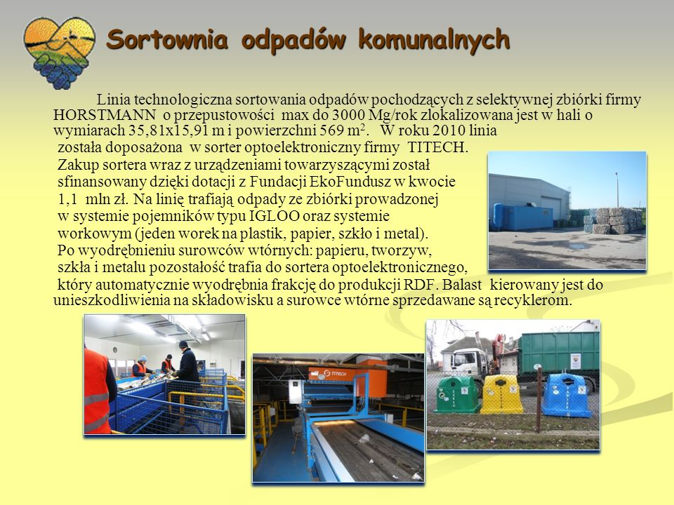Sortownia odpadów komunalnych