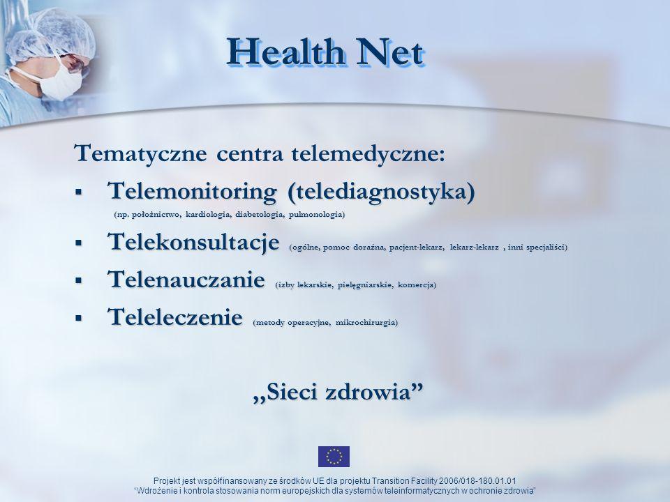 Health Net Tematyczne centra telemedyczne: