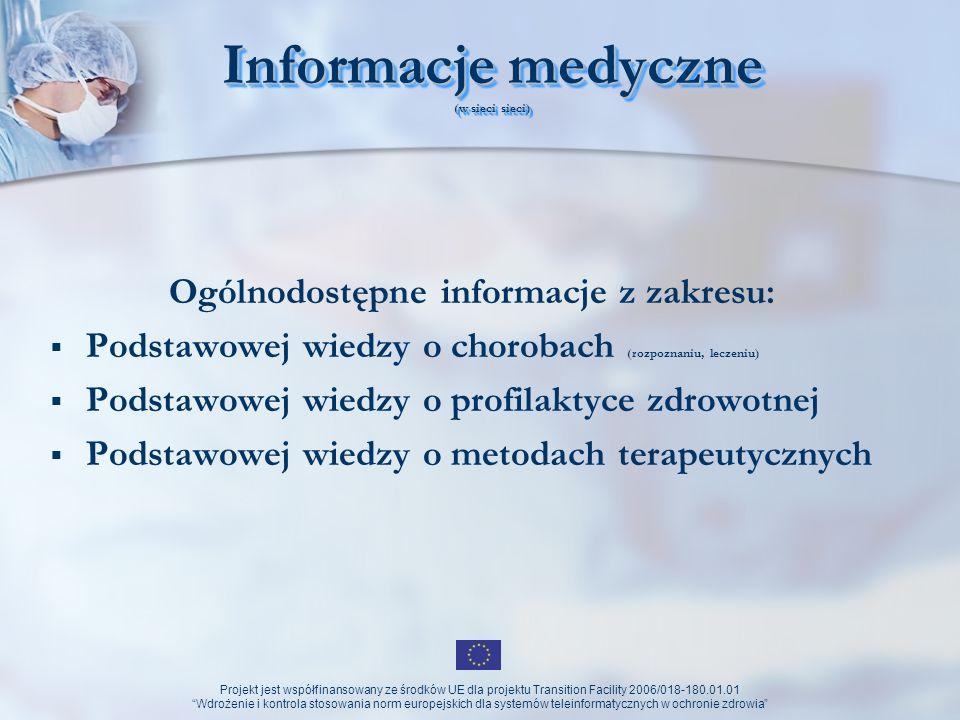 Informacje medyczne (w sieci sieci)