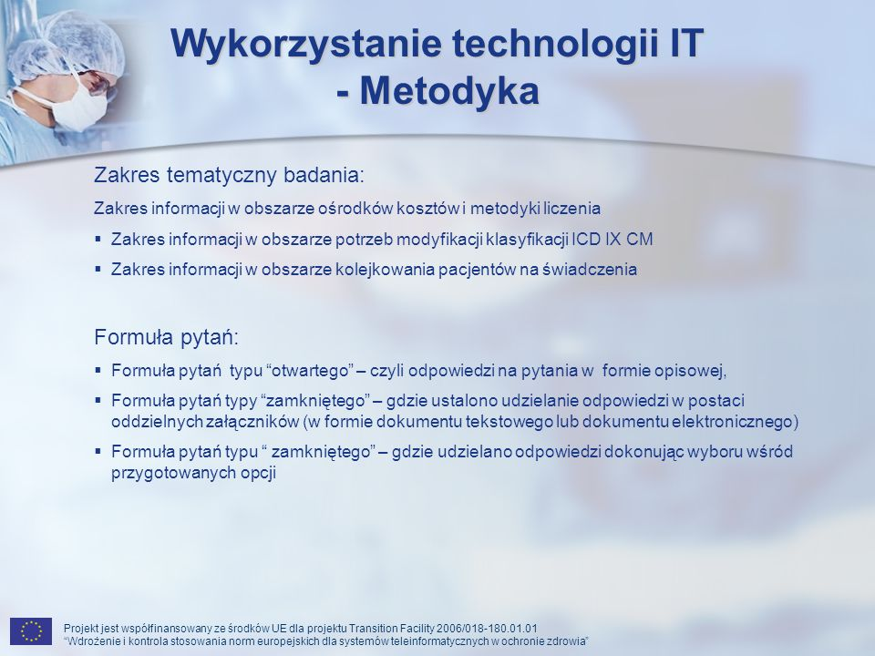 Wykorzystanie technologii IT - Metodyka