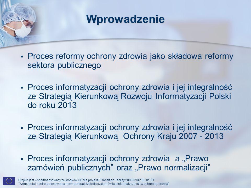 Wprowadzenie Proces reformy ochrony zdrowia jako składowa reformy sektora publicznego.