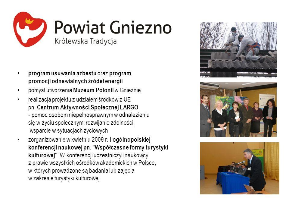 program usuwania azbestu oraz program promocji odnawialnych źródeł energii