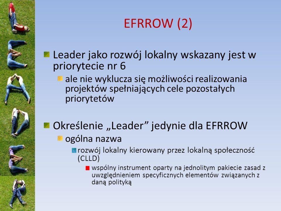 EFRROW (2) Leader jako rozwój lokalny wskazany jest w priorytecie nr 6