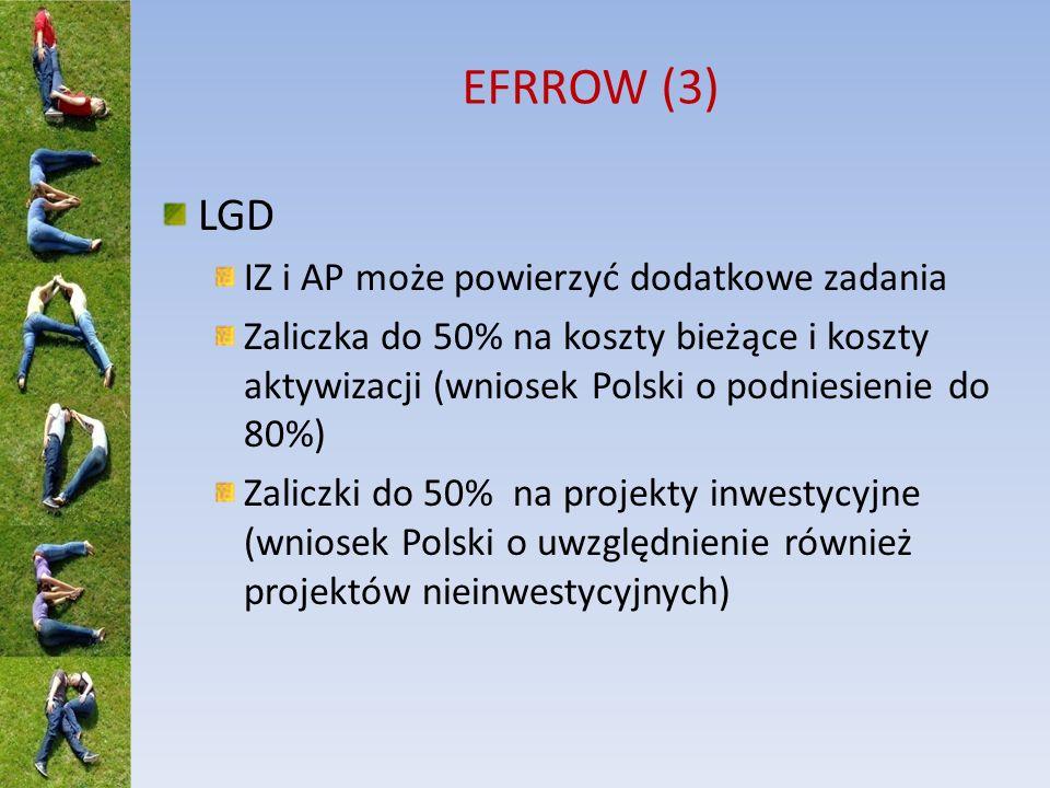 EFRROW (3) LGD IZ i AP może powierzyć dodatkowe zadania
