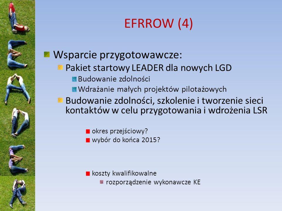 EFRROW (4) Wsparcie przygotowawcze: