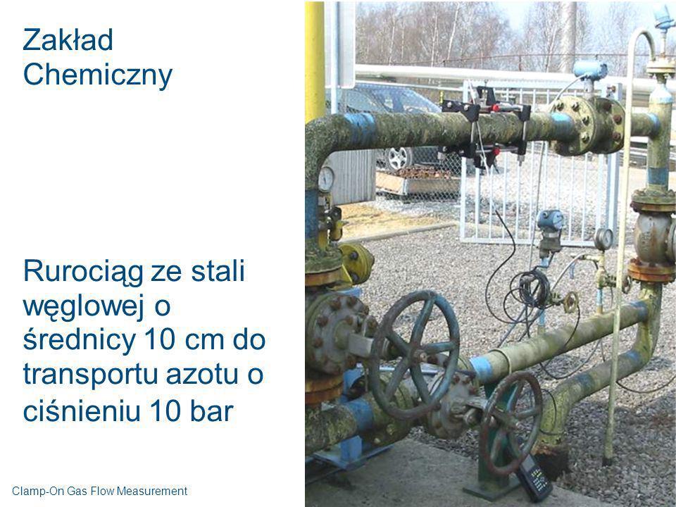 Zakład Chemiczny. Rurociąg ze stali węglowej o średnicy 10 cm do transportu azotu o ciśnieniu 10 bar.