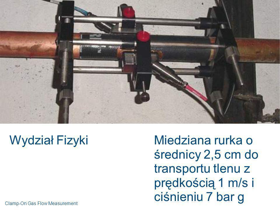 Wydział Fizyki Miedziana rurka o średnicy 2,5 cm do transportu tlenu z prędkością 1 m/s i ciśnieniu 7 bar g.