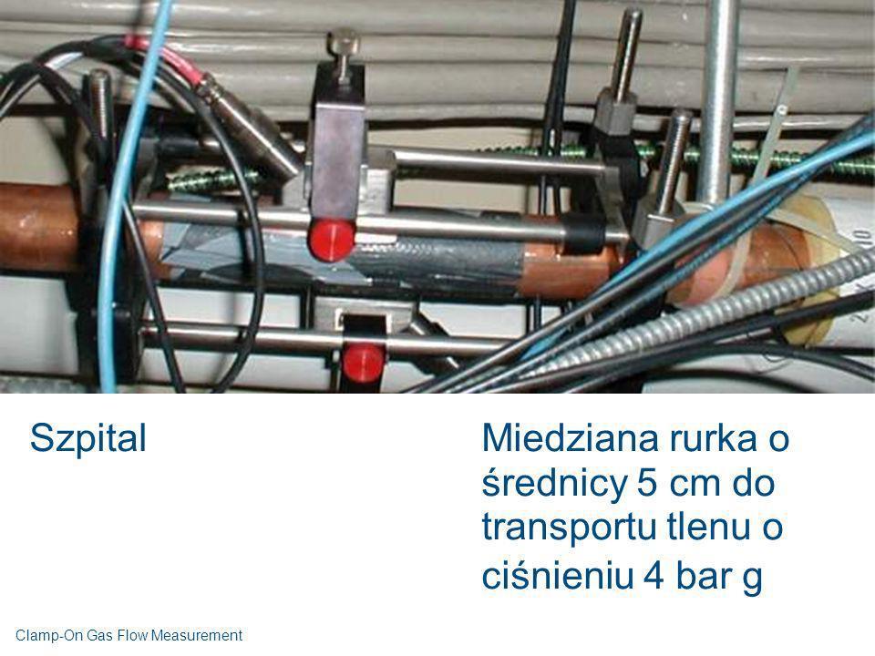 Szpital Miedziana rurka o średnicy 5 cm do transportu tlenu o ciśnieniu 4 bar g.