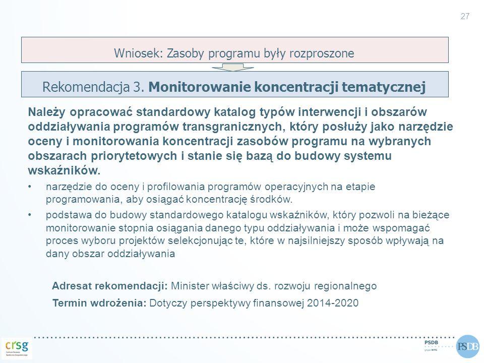 Rekomendacja 3. Monitorowanie koncentracji tematycznej