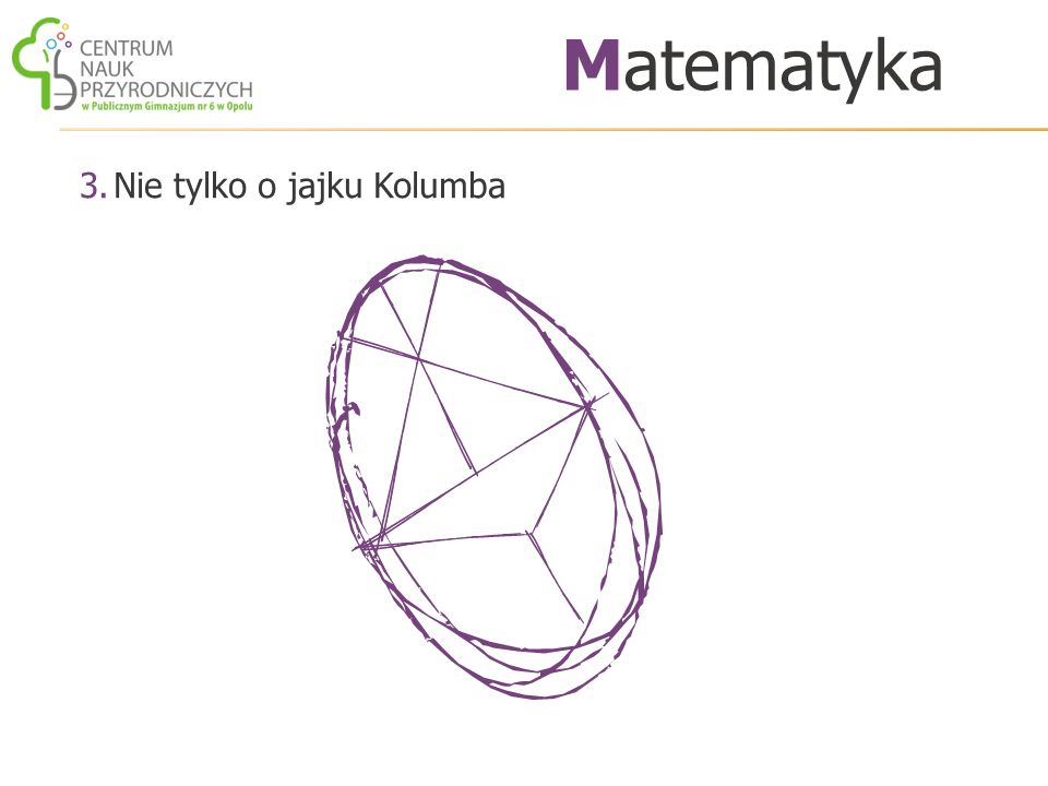 Matematyka Nie tylko o jajku Kolumba
