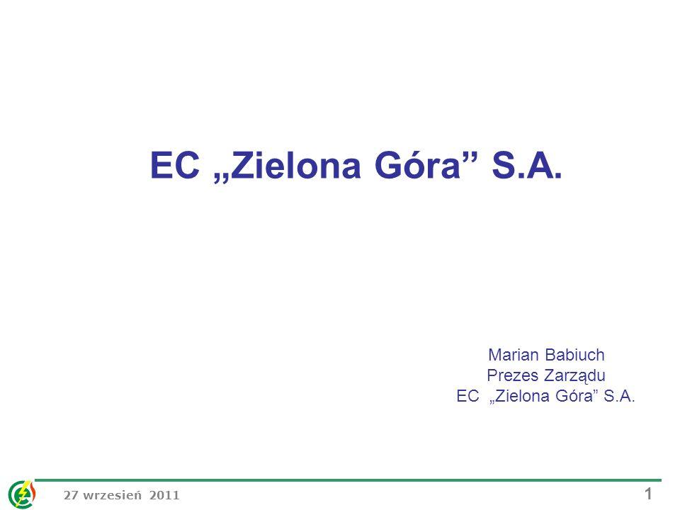 """Marian Babiuch Prezes Zarządu EC """"Zielona Góra S.A."""