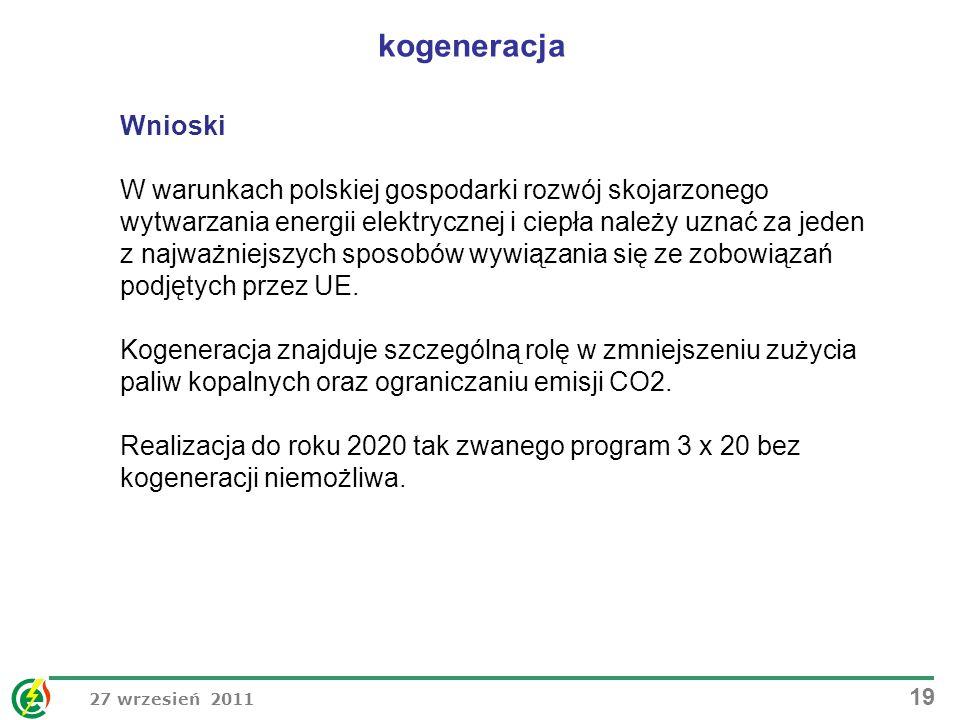 kogeneracja Wnioski.