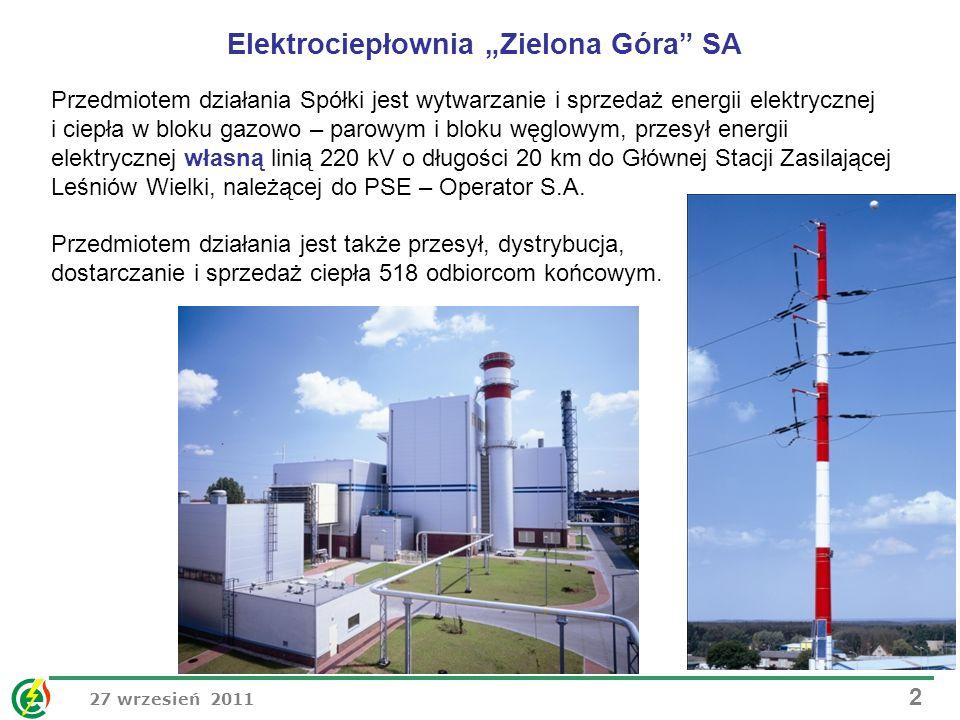 """Elektrociepłownia """"Zielona Góra SA"""