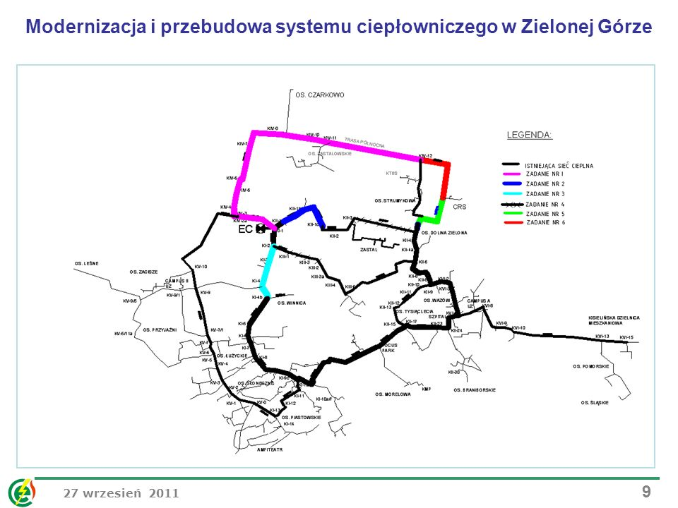 Modernizacja i przebudowa systemu ciepłowniczego w Zielonej Górze