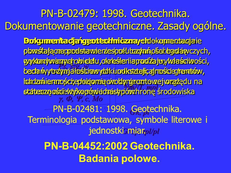PN-B-04452:2002 Geotechnika. Badania polowe.
