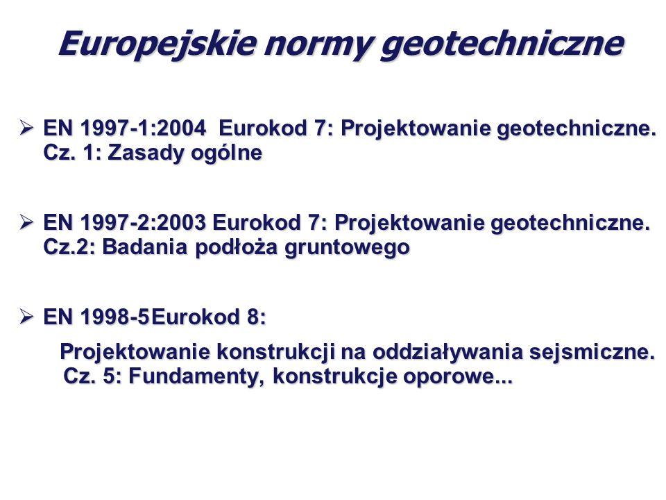 Europejskie normy geotechniczne