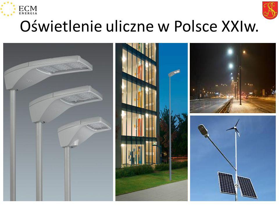 Oświetlenie uliczne w Polsce XXIw.
