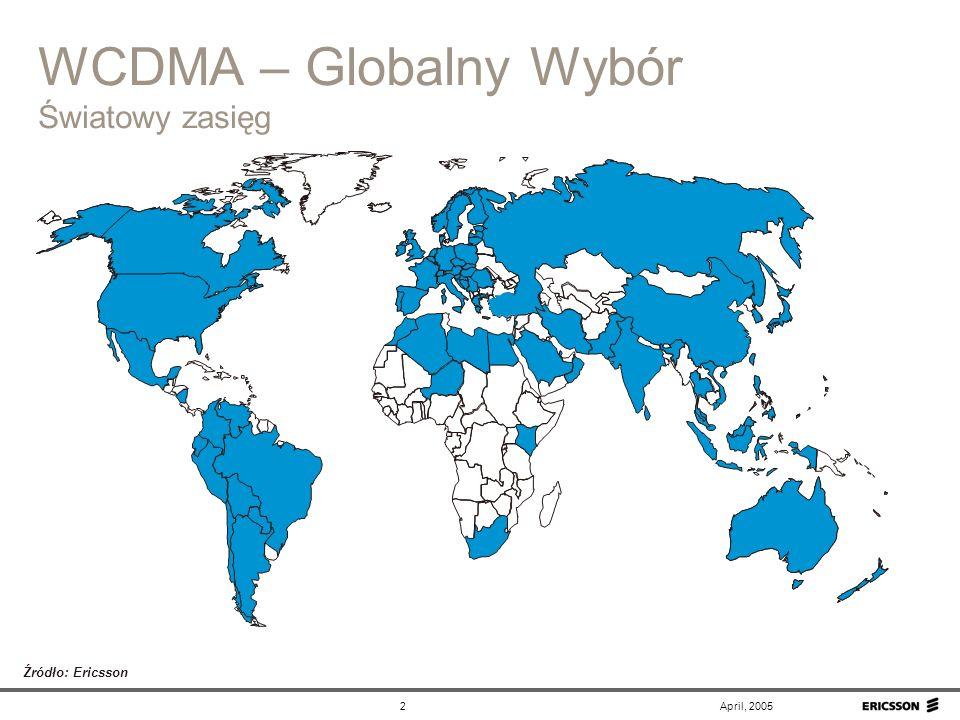 WCDMA – Globalny Wybór Światowy zasięg