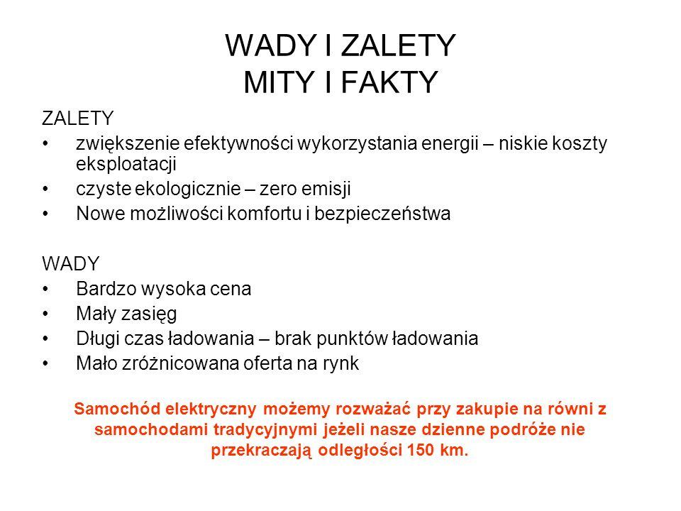 WADY I ZALETY MITY I FAKTY