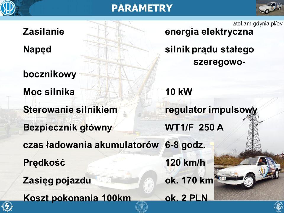 PARAMETRY Zasilanie energia elektryczna